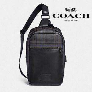 Coach Plaid Coated Canvas Mini Backpack